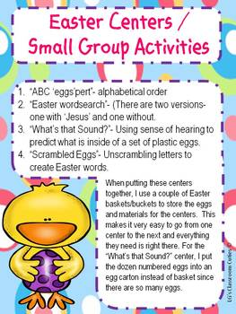 ELA / Reading Easter Centers