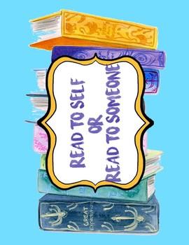 ELA/ Reading/ Literacy Center Signs