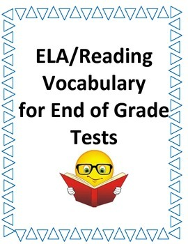 ELA/ Reading Question Stem Commonly Used Vocabulary Words