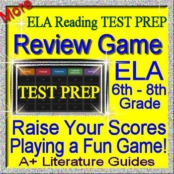8th Grade Smarter Balanced ELA Reading Test Prep Jeopardy Game CAASPP