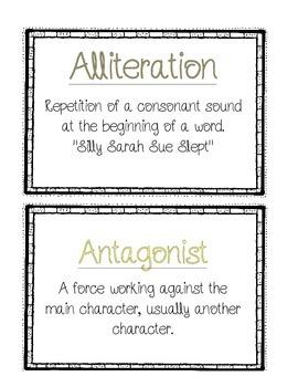 Reading Vocabulary Word Wall