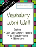 Reading Vocabulary Word Wall