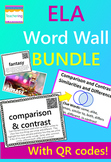 ELA Word Wall BUNDLE {100 words with QR codes and definitions}
