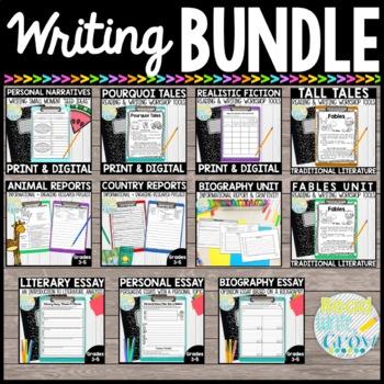 ELA Reading & Writing Mega BUNDLE-Narrative & Informationa