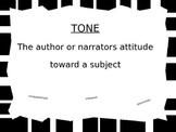 ELA Reference Posters: theme, plot, tone, mood