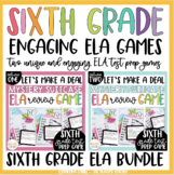 ELA Review Game for 6th Grade ELA Test Prep BUNDLE