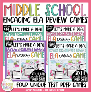 ELA Review Game for Middle School ELA Test Prep Sixth Seventh and Eighth
