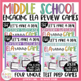 ELA Review Game for Middle School ELA Test Prep Sixth Seventh and Eighth Bundle