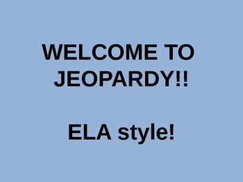 ELA Review Jeopardy Game
