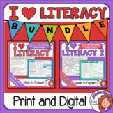 ELA Review Morning Work Print and Google Slides BUNDLE
