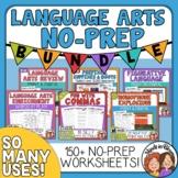 ELA Review No Prep Bundle, Grammar and Vocabulary Print an