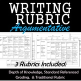ELA Rubric Argument Writing Rubric with DOK Levels