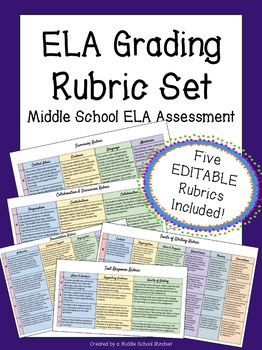ELA Rubric Starter Pack {Summary, Argument, Analysis, Discussion, & More!}