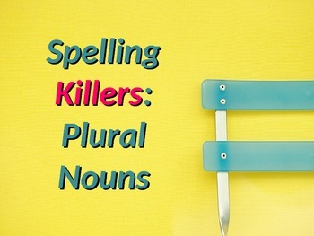 ELA SPELLING Plural Nouns PowerPoint PPT