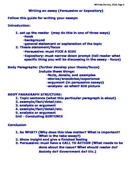 ELA STAAR Essays Teacher Resource Packet