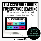 ELA Scavenger Hunts for Distance Learning