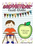 ELA September Quick Checks: No Prep Printables for Progres