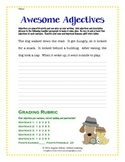 ELA Six Trait Word Choice Lesson:  Awesome Adjectives with Rubric