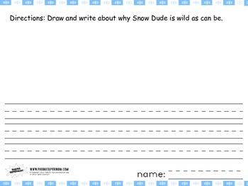 ELA Snow Dude Winter Activities: writing and reading CVC words