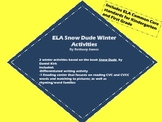 ELA Snow Dude Winter Activities: writing and reading CVC words