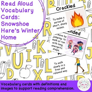 ELA: Snowshoe Hare's Winter Home Vocabulary Cards, 2nd Grade ReadyGen