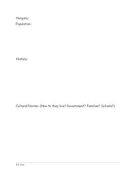 ELA/Social Studies Handout