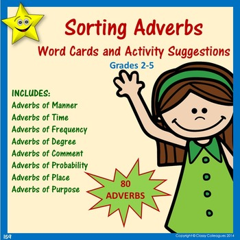 Adverbs Word Cards and Activities