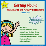 Nouns Word Cards and Activities