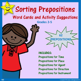 Prepositions Word Cards and Activities