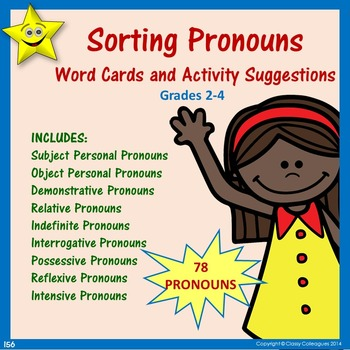 Pronouns Word Cards and Activities