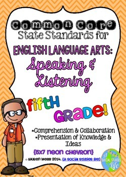 Common Core ELA Speaking and Listening Standards Posters 5