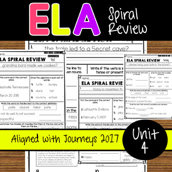 ELA Daily Practice- Unit 4 - Weeks 16-20 Aligned with Jour