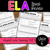 ELA Daily Practice - Unit 6 - Weeks 26-30 Aligned with Journeys 2017