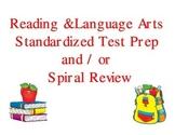 ELA Spiral Review for Standardized Tests 1st 9 Weeks