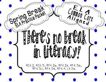 ELA Spring Break Review Packet {Common Core Aligned}