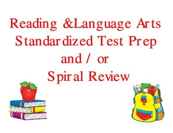 ELA Standardized Test Prep Spiral Review 1st 9 Weeks