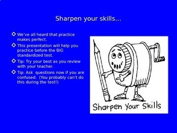 E.L.A. Standardized Test Review PowerPoint Bundle