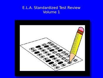 E.L.A. Standardized Test Review PowerPoint - Volume 1