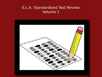 E.L.A. Standardized Test Review PowerPoint - Volume 2