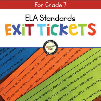 ELA Standards Exit Tickets 7
