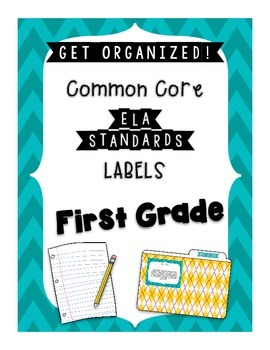 ELA Standards Labels- First Grade