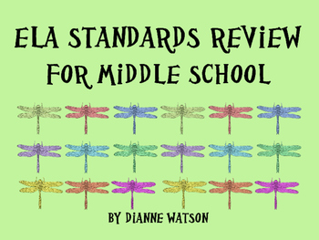 ELA Standards Review For Middle School