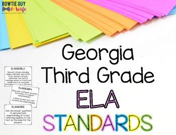 ELA Standards for Third Grade Georgia Standards of Excellence