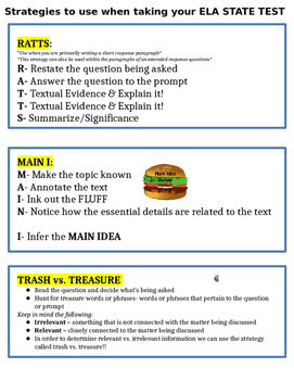 ELA State Examination Test Prep (Middle School)
