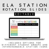 ELA/Reading Station Rotation Slides +Timers + Back to Scho