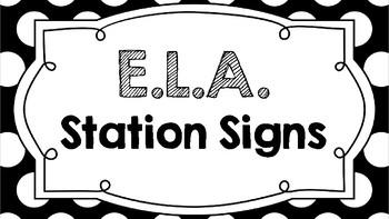 ELA Station Signs