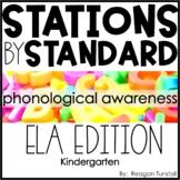 ELA Stations by Standard Phonological Awareness Kindergarten