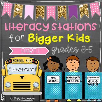 ELA Stations for Bigger Kids {ABC Order, Synonyms, Antonym