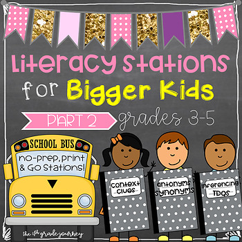 ELA Stations for Bigger Kids: Part 2