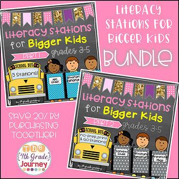 ELA Stations for Bigger Kids--The BUNDLE